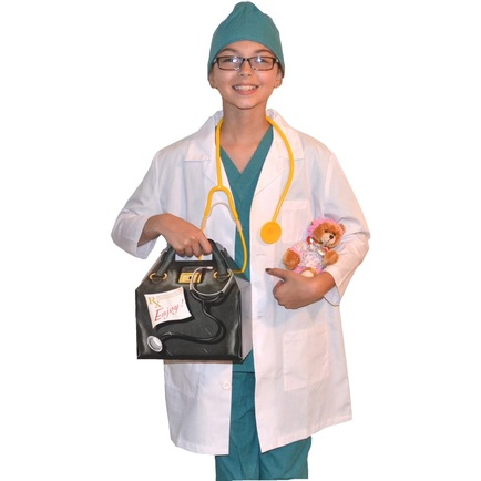 Kids Doctor Costume with Lab Coat and Scrubs Bear