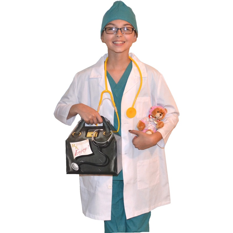Kids Doctor Costume with Lab Coat and Scrubs Bear  sc 1 st  Kids Doctor Costumes & Kids Doctor Costume with Lab Coat Scrubs Scrubs Cap Bear and ...
