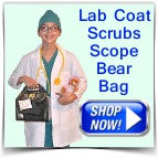 Kids Doctor Costume with Scrubs Bear
