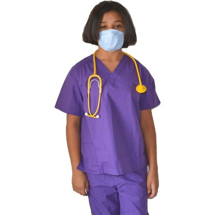 Kids Doctor Costume with Scrubs and Mask