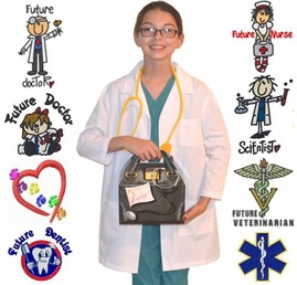 Kids Nurse Costume with Embroidery